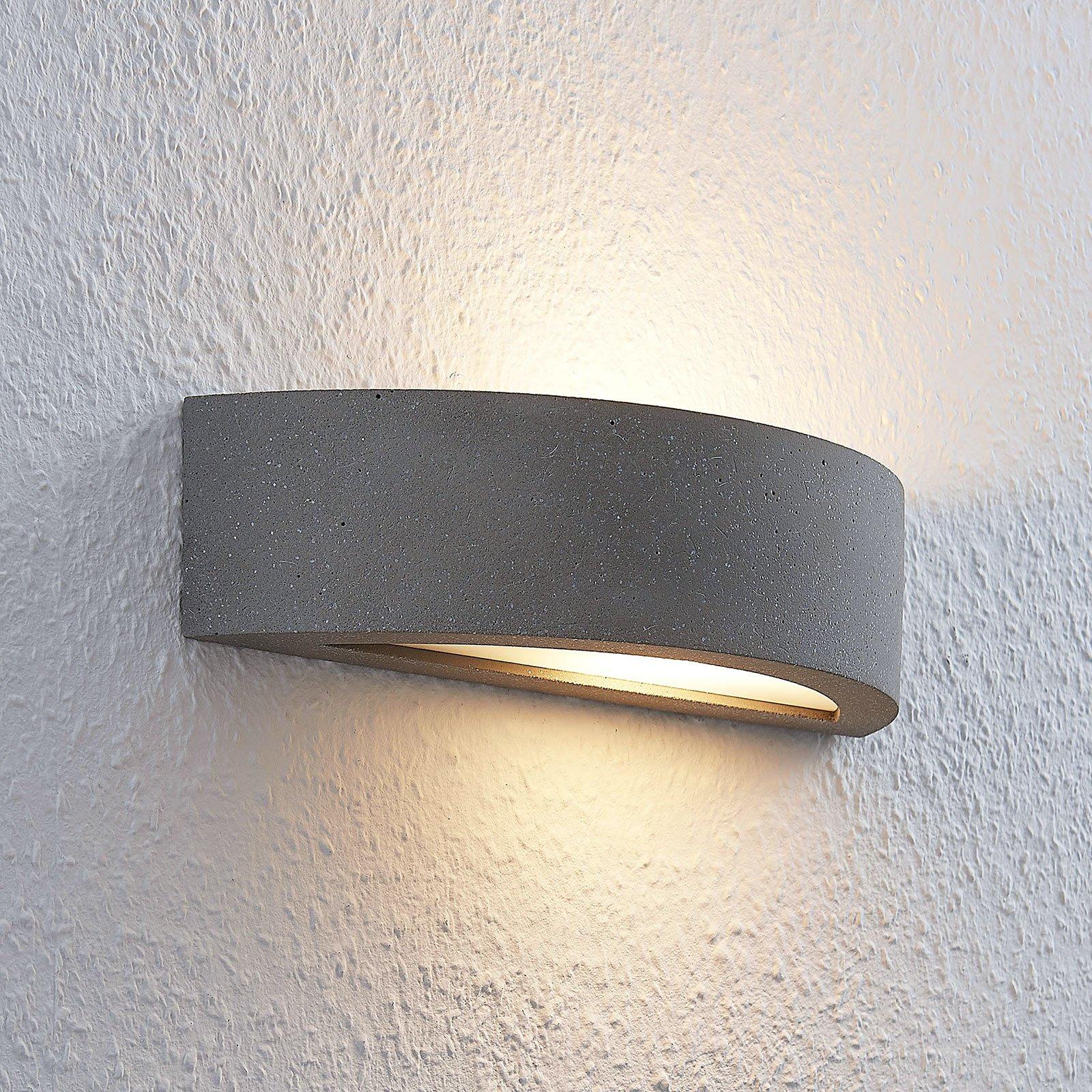 Lindby Elvira LED-vegglampe halvrund, easydim
