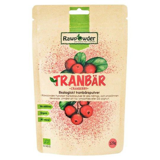Rawpowder Ekologiskt Tranbärspulver, 125 g