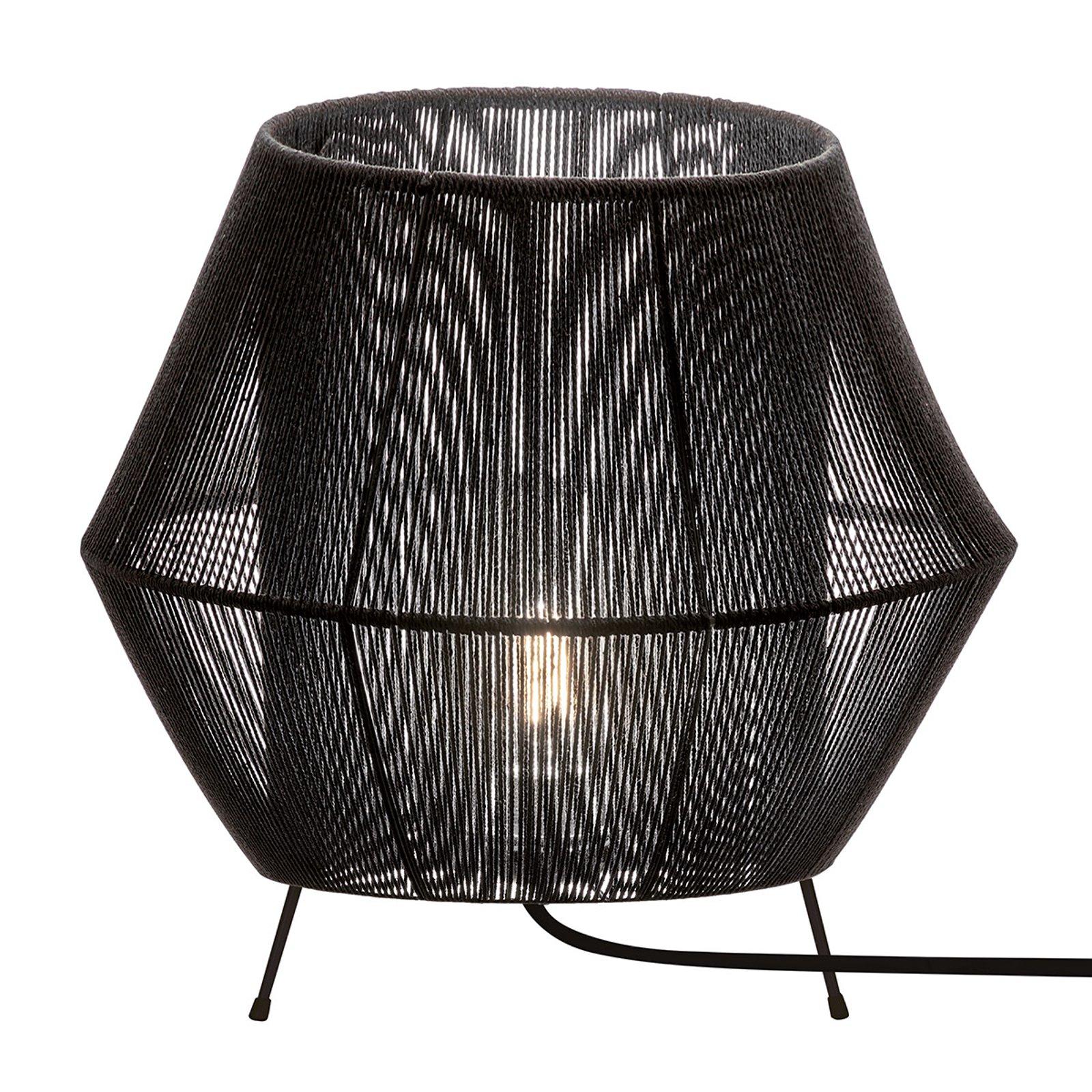 Bordlampe Zaira i svart