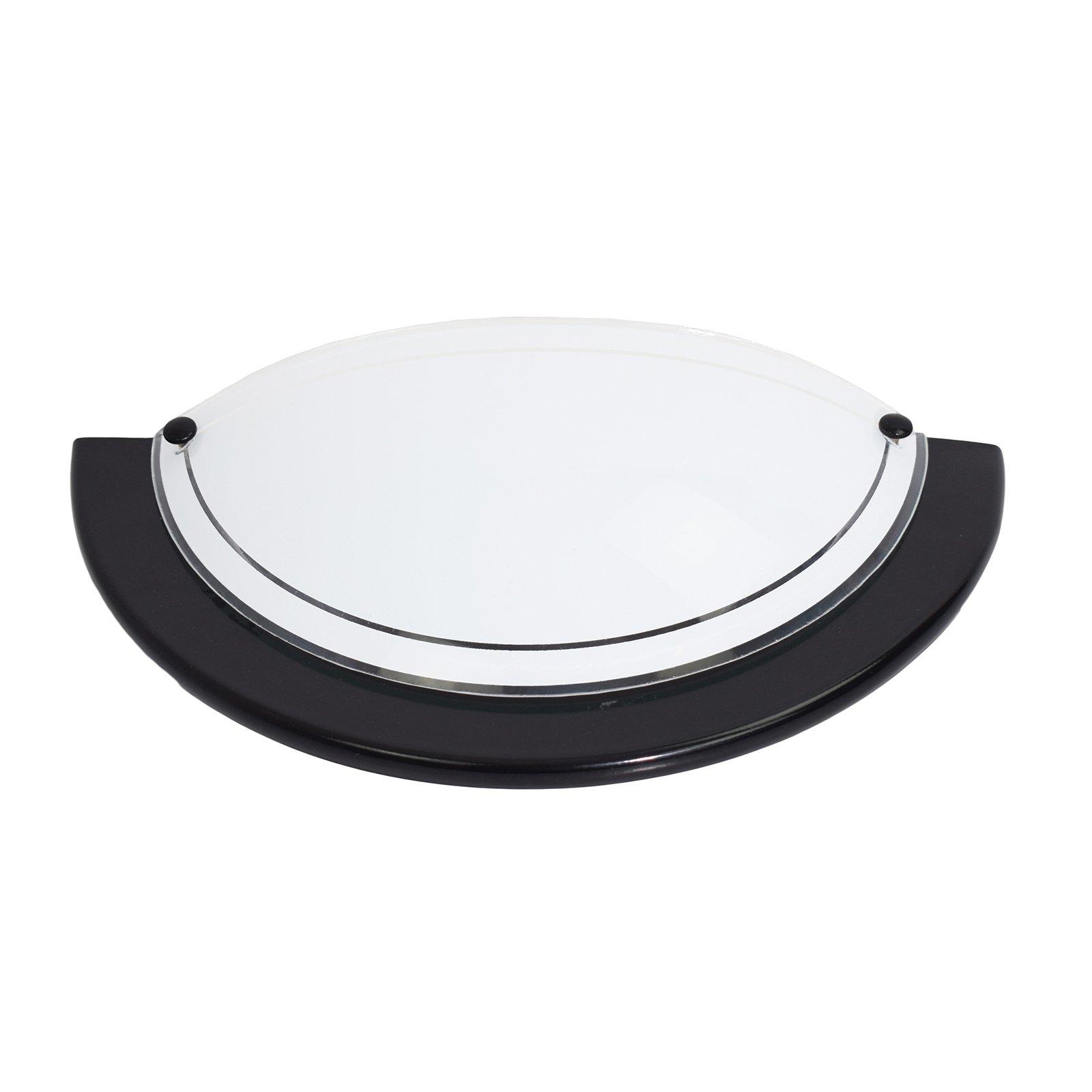Vegglampe K1B, svart
