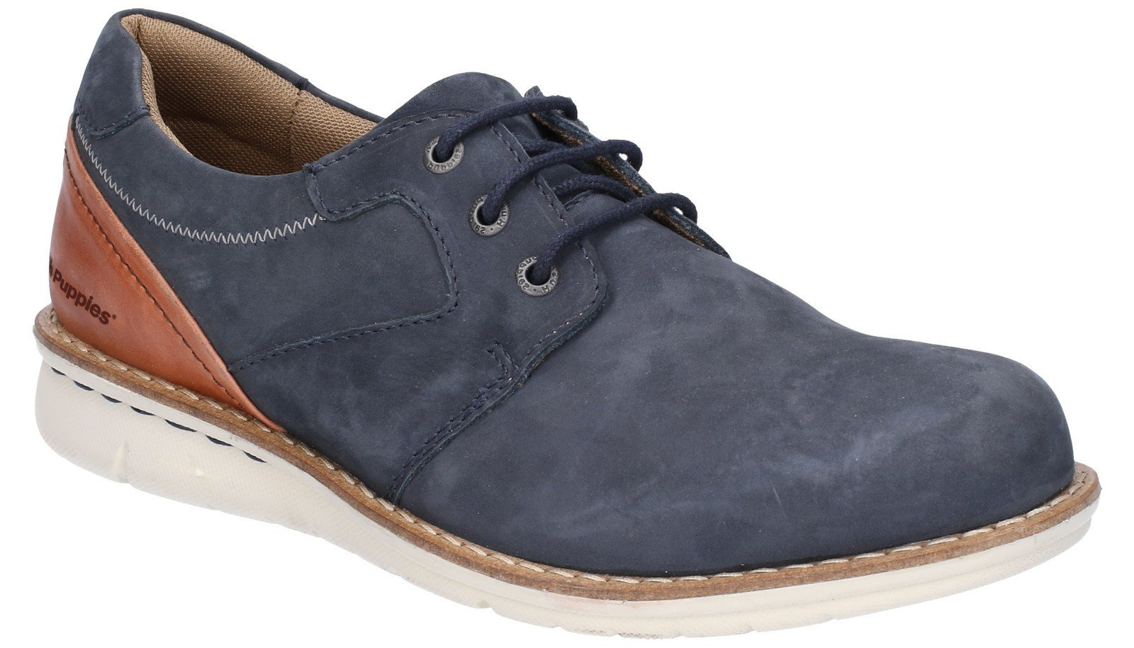 Hush Puppies Men's Chase Casual Lace Up Trainer Various Colours 28352 - Navy/Brown 6