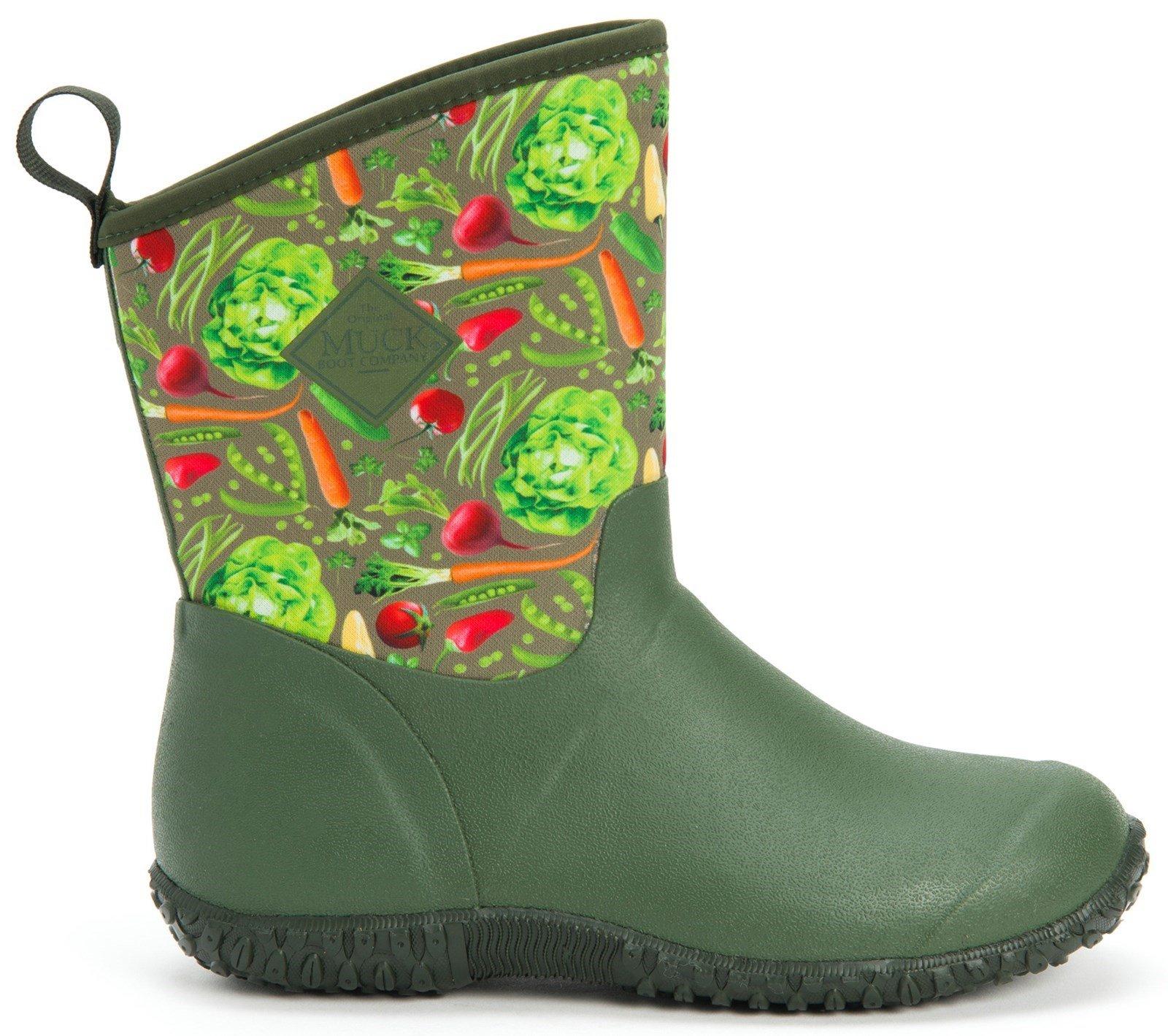 Muck Boots Unisex Muckster II Slip On Short Boot Various Colours 28899 - Green Veggie Print 3
