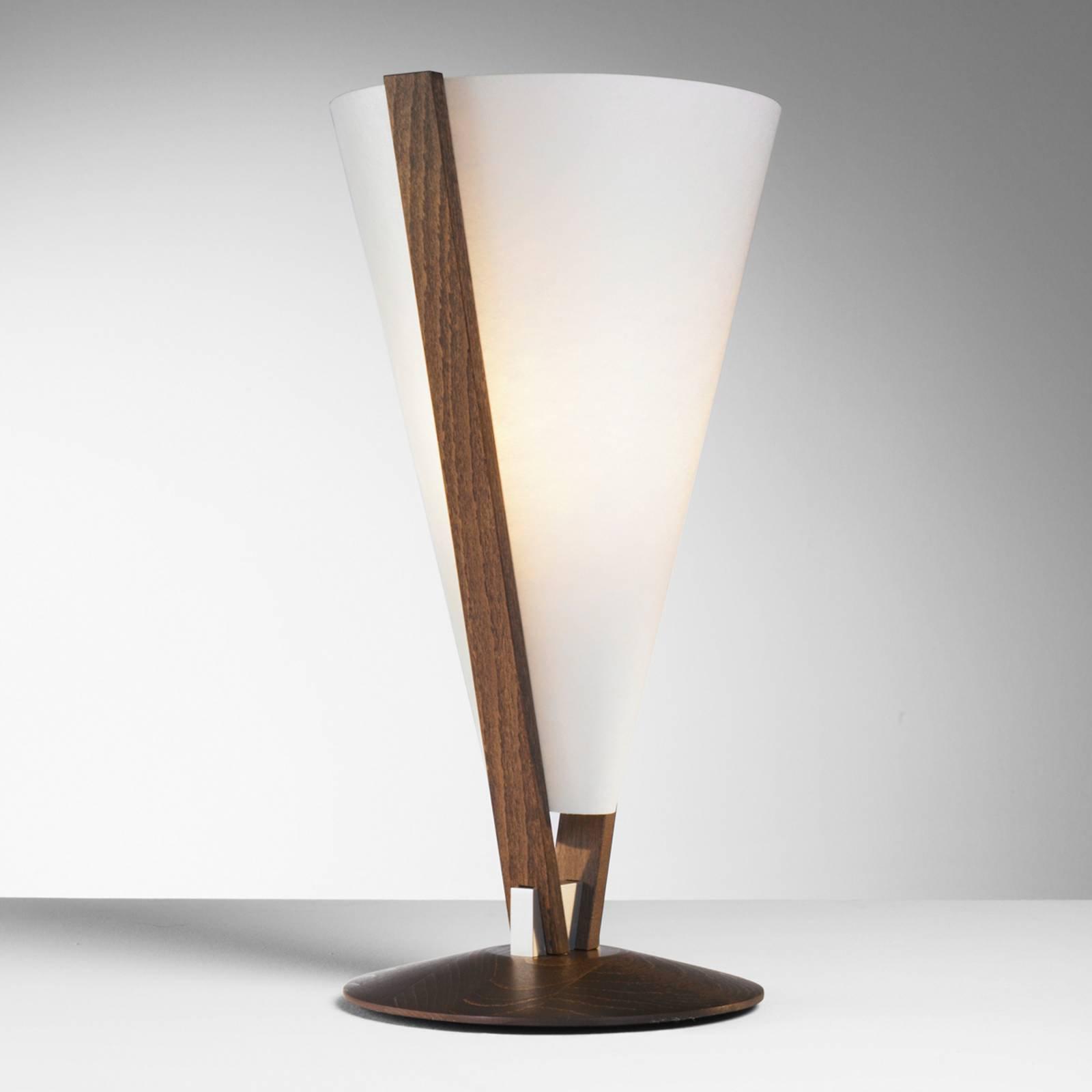 SEBA bordlampe med manuell bryter, maron