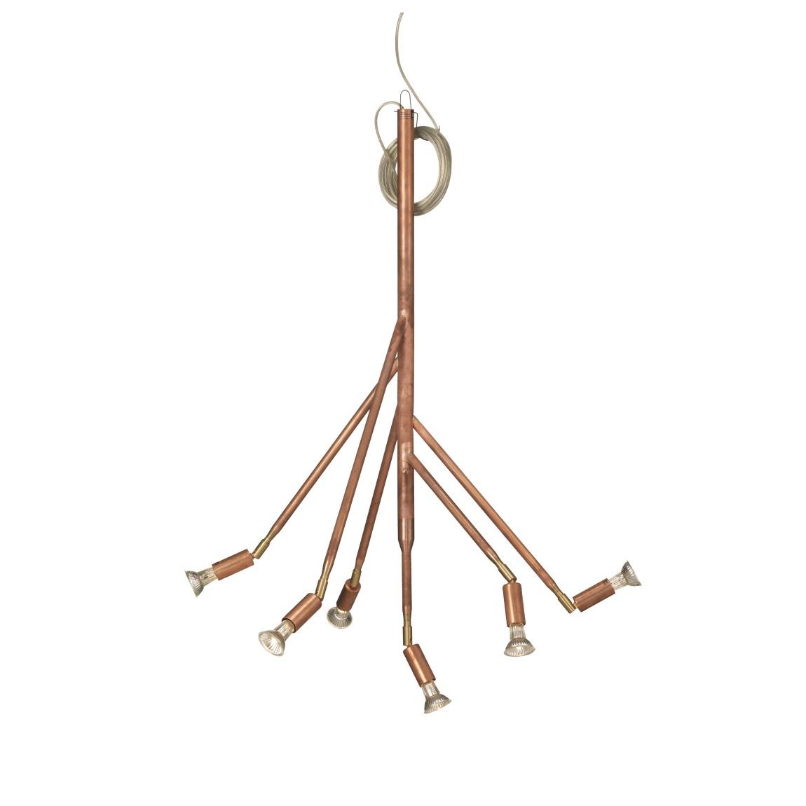 Kvist 6 armar rå koppar Örsjö Belysning