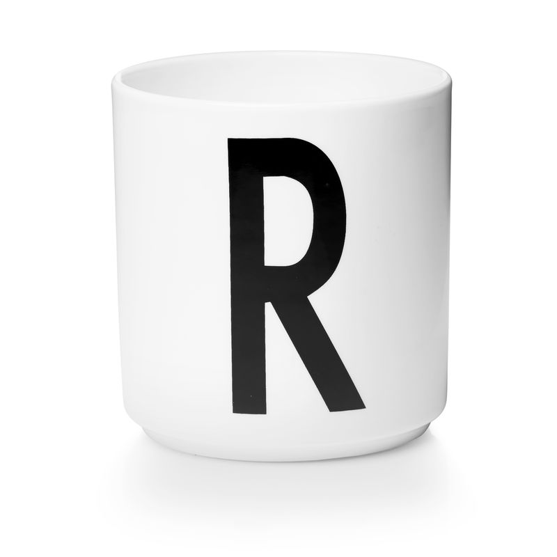 Design Letters - Personal Porcelain Cup R - White