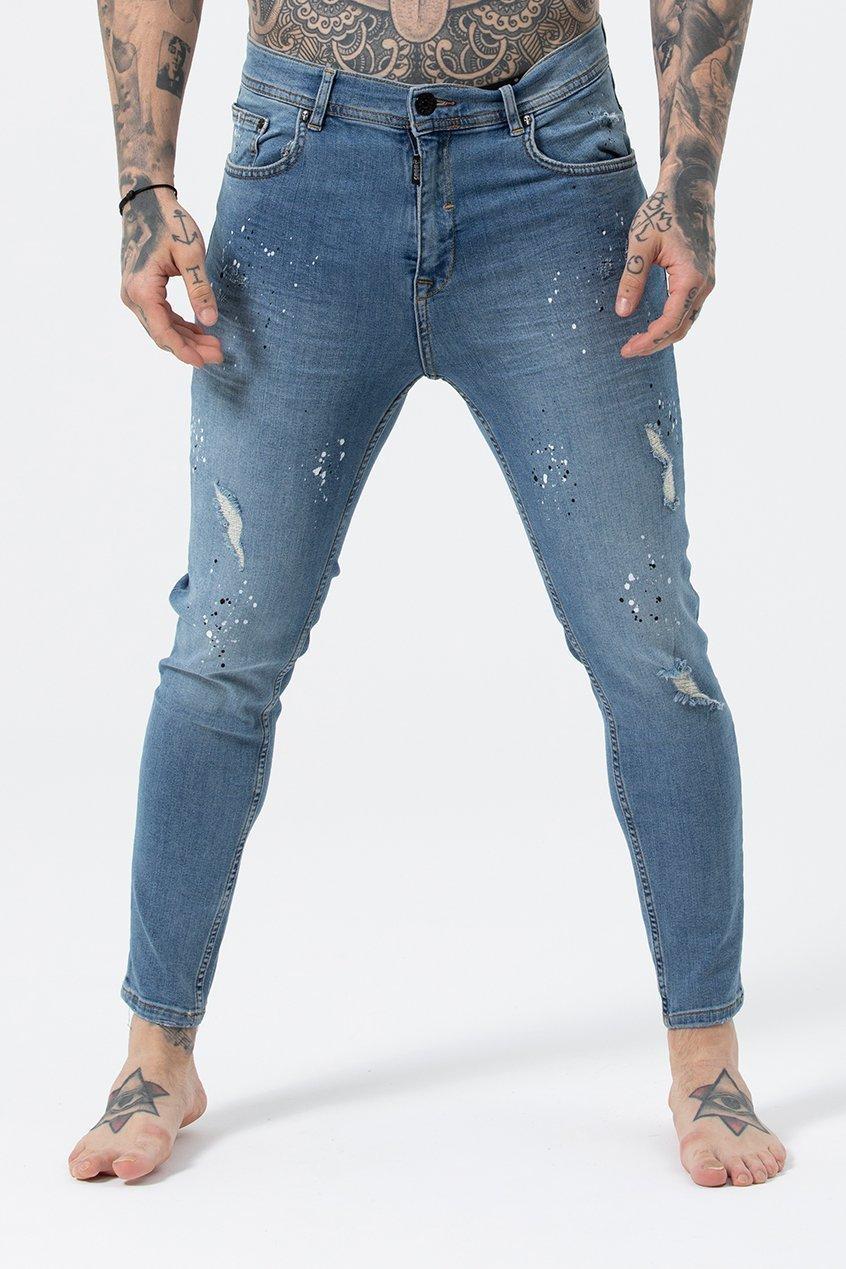 Joey Men's Skinny Fit Jeans - Blue Wash, 32 inch waist