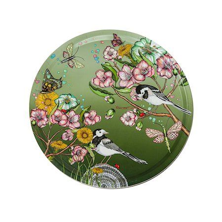Nadja Wedin Design Brett 38 cm Wagtails Spring Moss