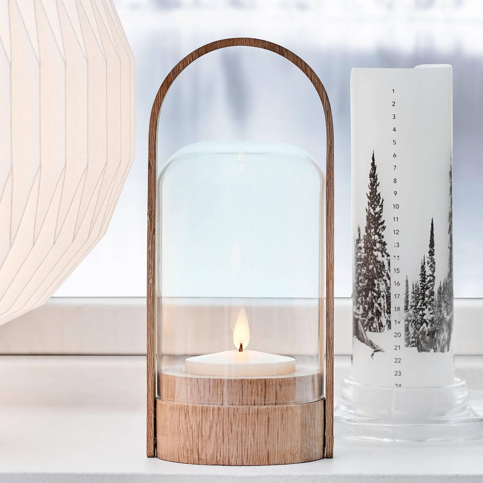 LE KLINT Candle Light -LED-lyhtyvalaisin, tammi