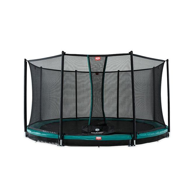 BERG Favorit Nedgrävbar Studsmatta Grå 430 + Säkerhetsnät Comfort