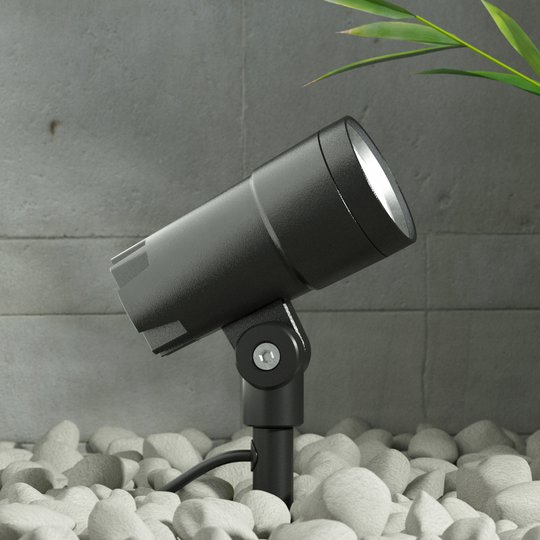 LED-ulkokohdevalaisin Daja, tummanharmaa, IP65