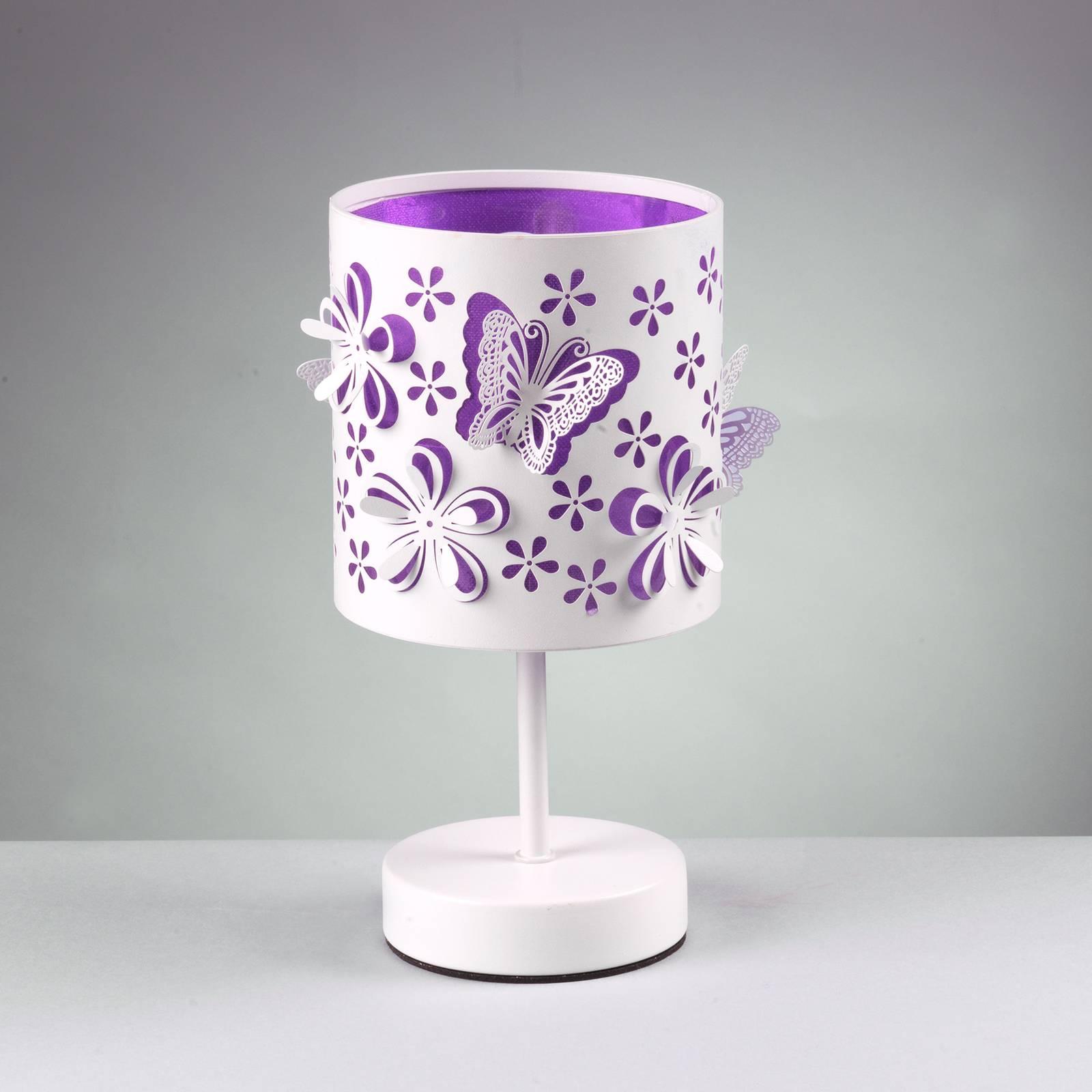 Pöytävalaisin Titilla valkoinen, violetti