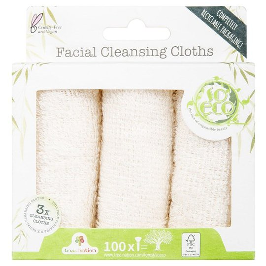 So Eco Facial Cleansing Cloths, 3-pack