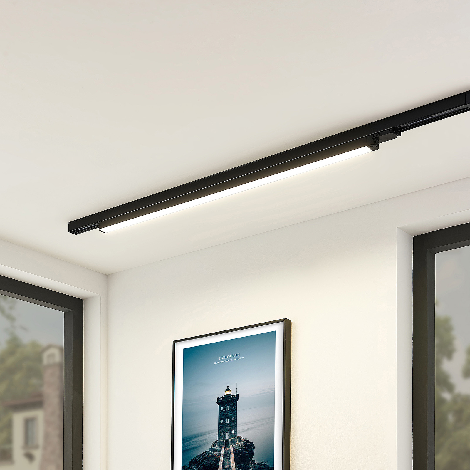 Arcchio Harlow -LED-valaisin, musta 109 cm 4 000 K