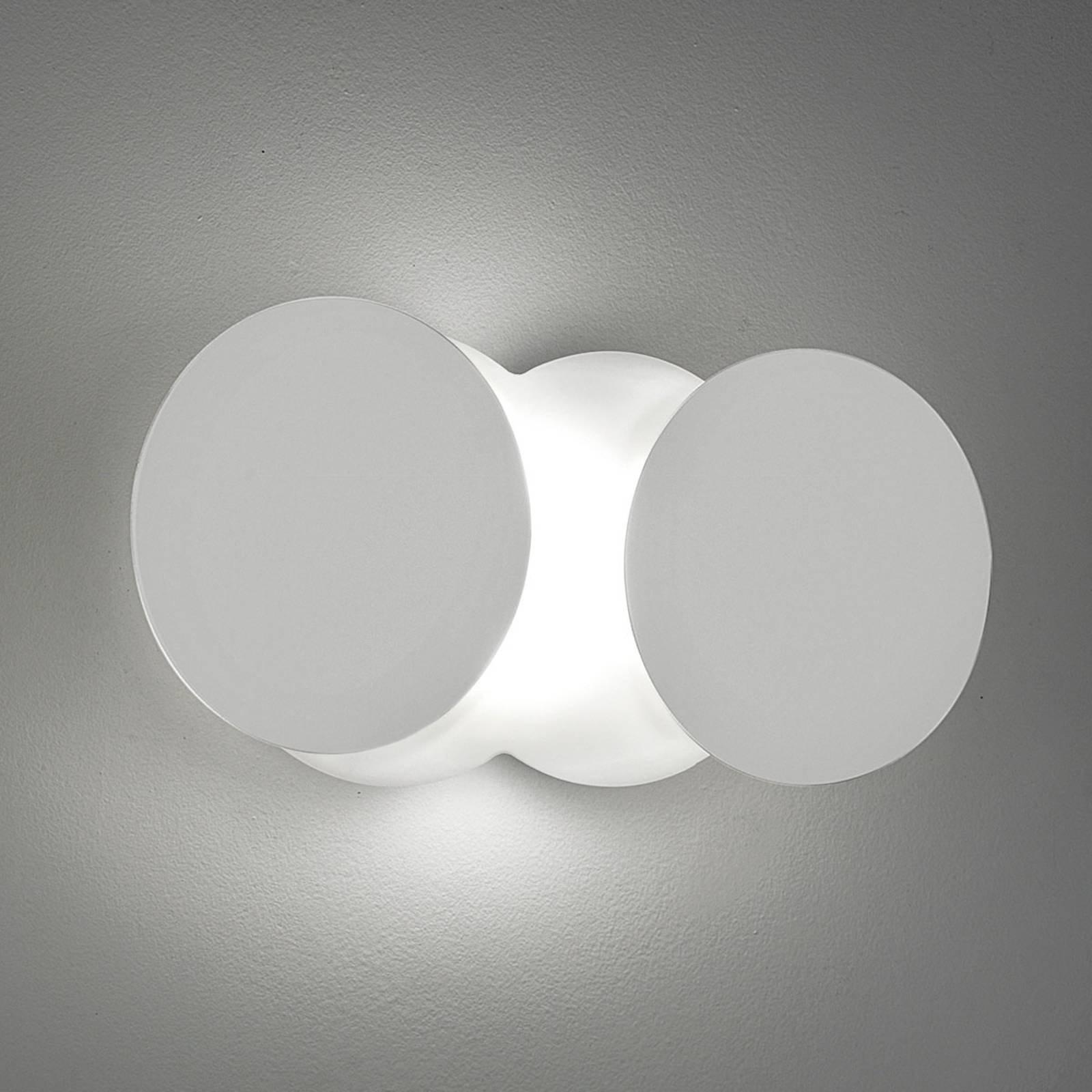 Foranderlig LED-vegglampe Nuvola, hvit