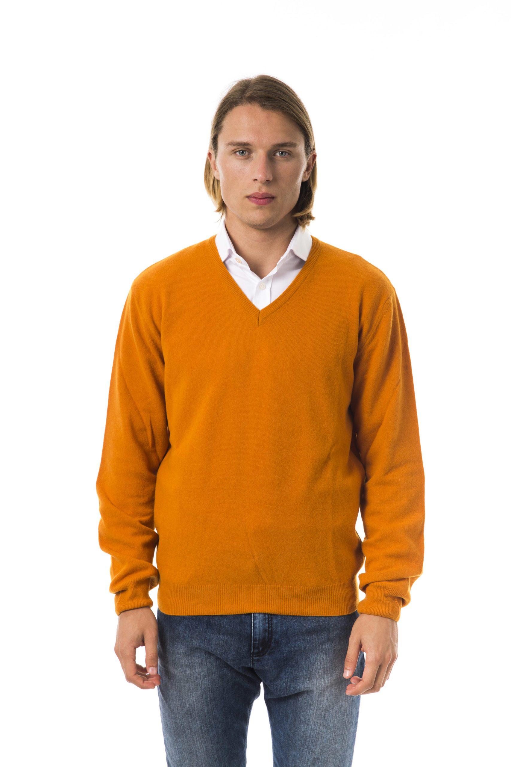 BYBLOS Men's Aragosta Sweater Orange BY817632 - XL