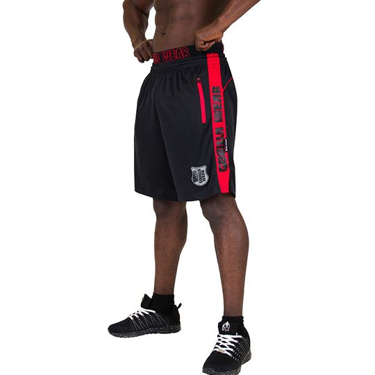 Shelby Shorts, Black/Red
