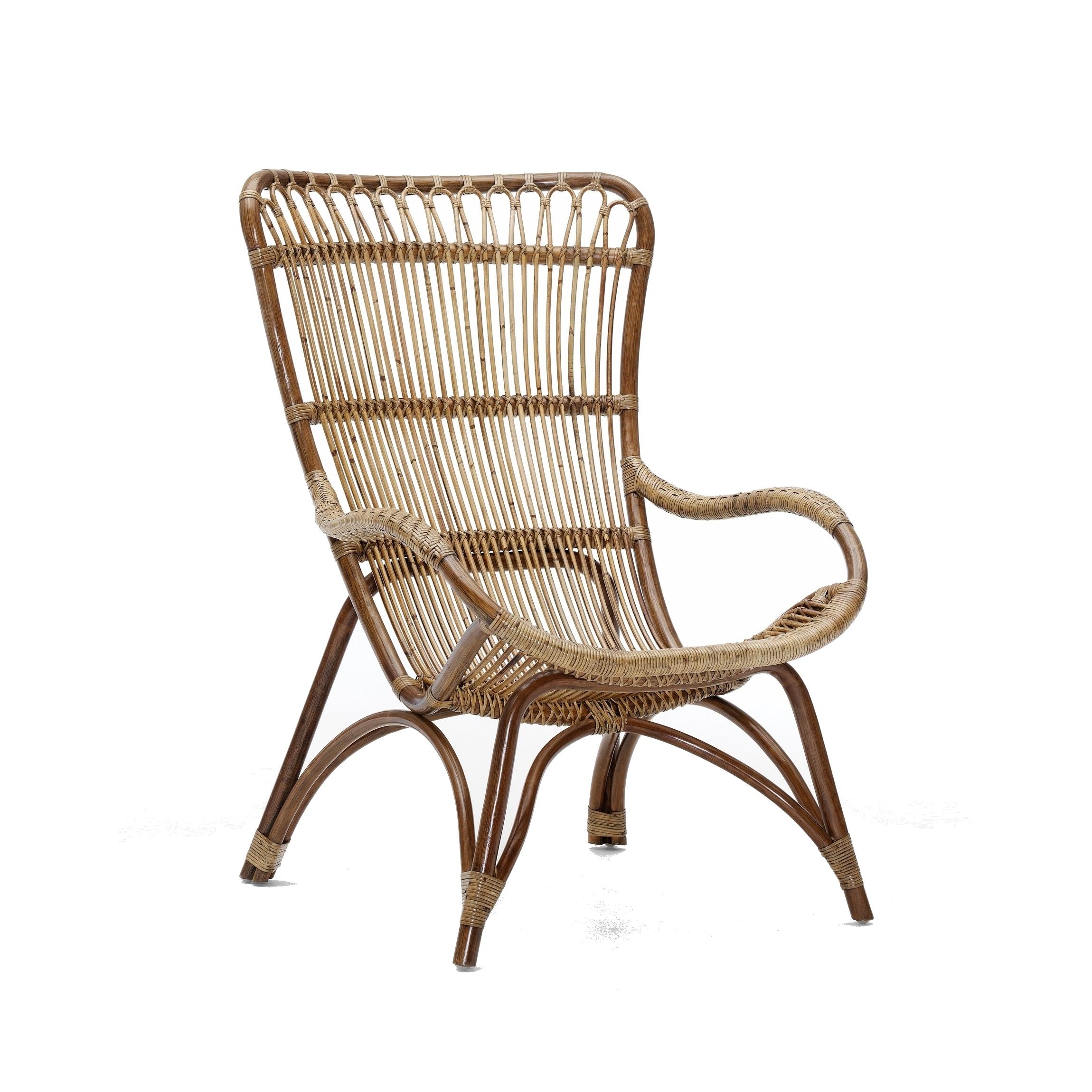 Monet korgfåtölj antikbrun, Sika-Design