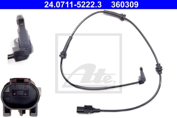 ABS-anturi ATE 24.0711-5222.3