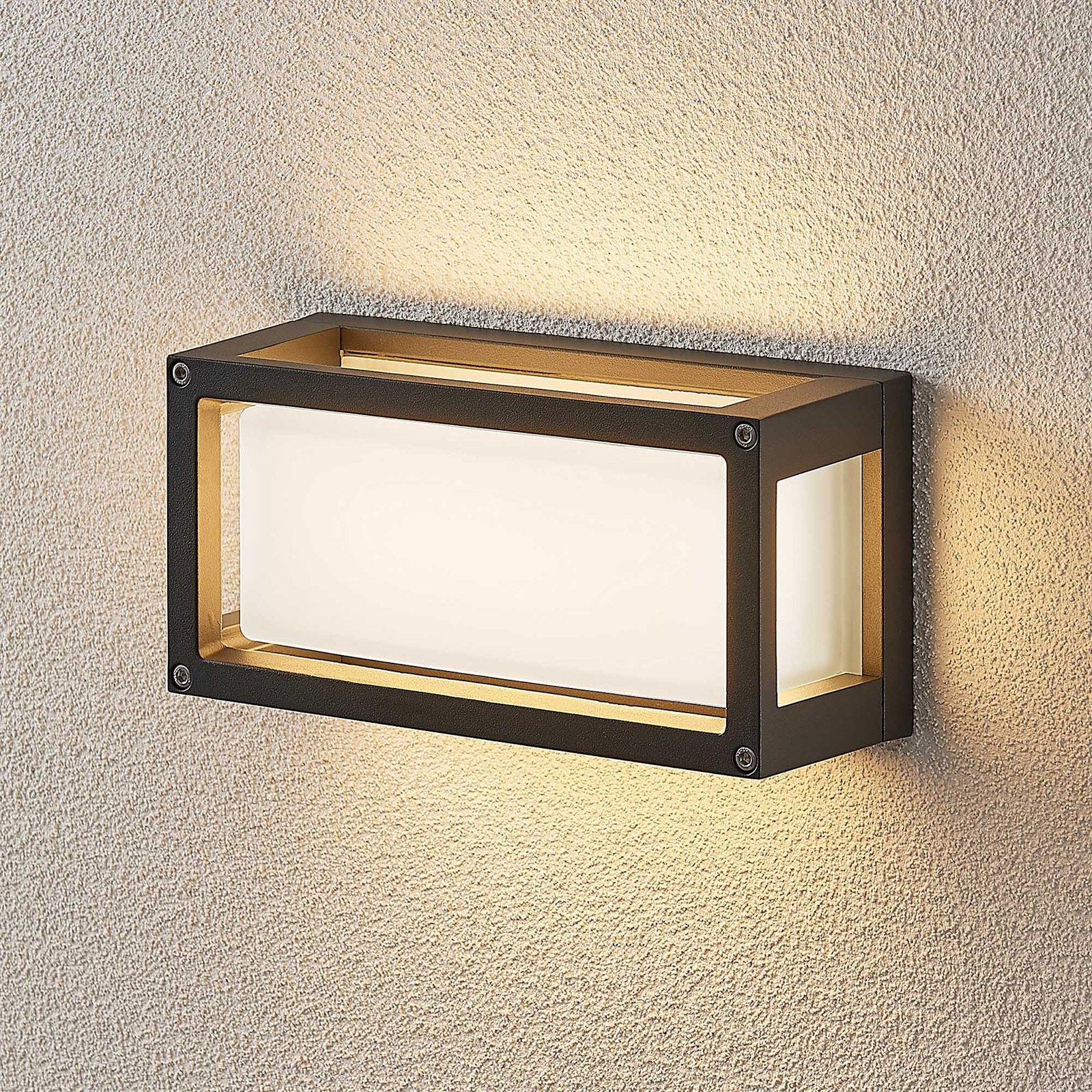 LED-utevegglampe Harpa 25 x 12,5 cm, uten riller