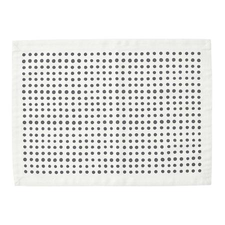Bordstablett Placemat Dot 37x50 Svart/Vit