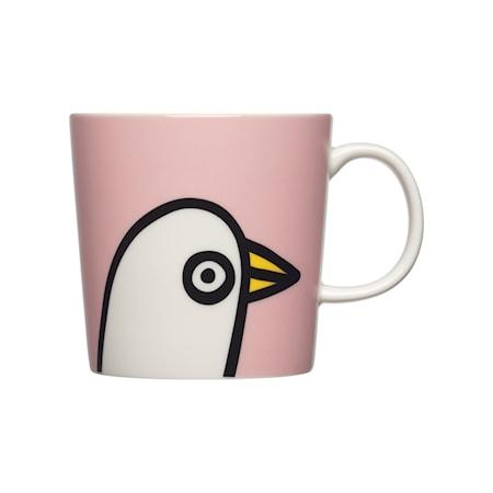 Oiva Toikka Collection mugg 30 cl Birdie rosa