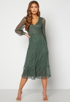 Happy Holly Elin mesh dress Green 44/46