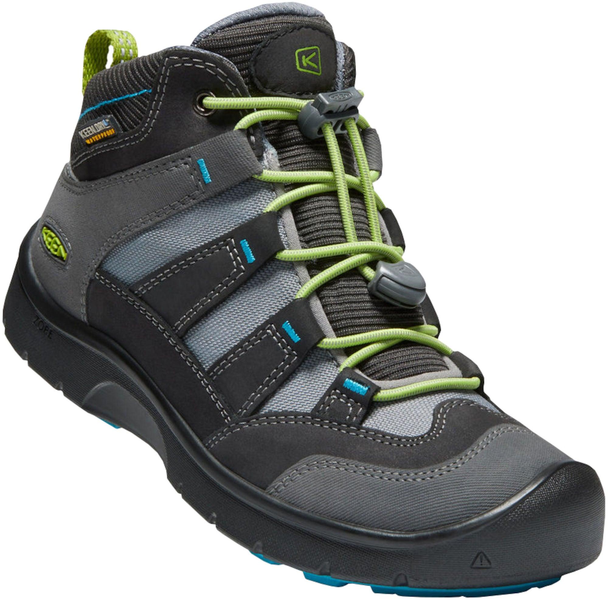 KEEN Hikeport Mid WP Sneaker, Magnet/Greenary 32-33