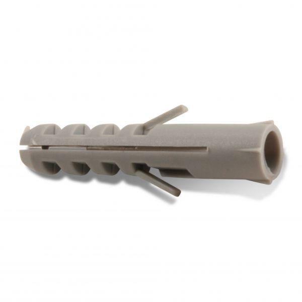 Heco 654060030004H Nylonplugg uten krage 6 x 30 mm, 100-pakning