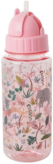 Rice Vannflaske Jungle Animals, Pink