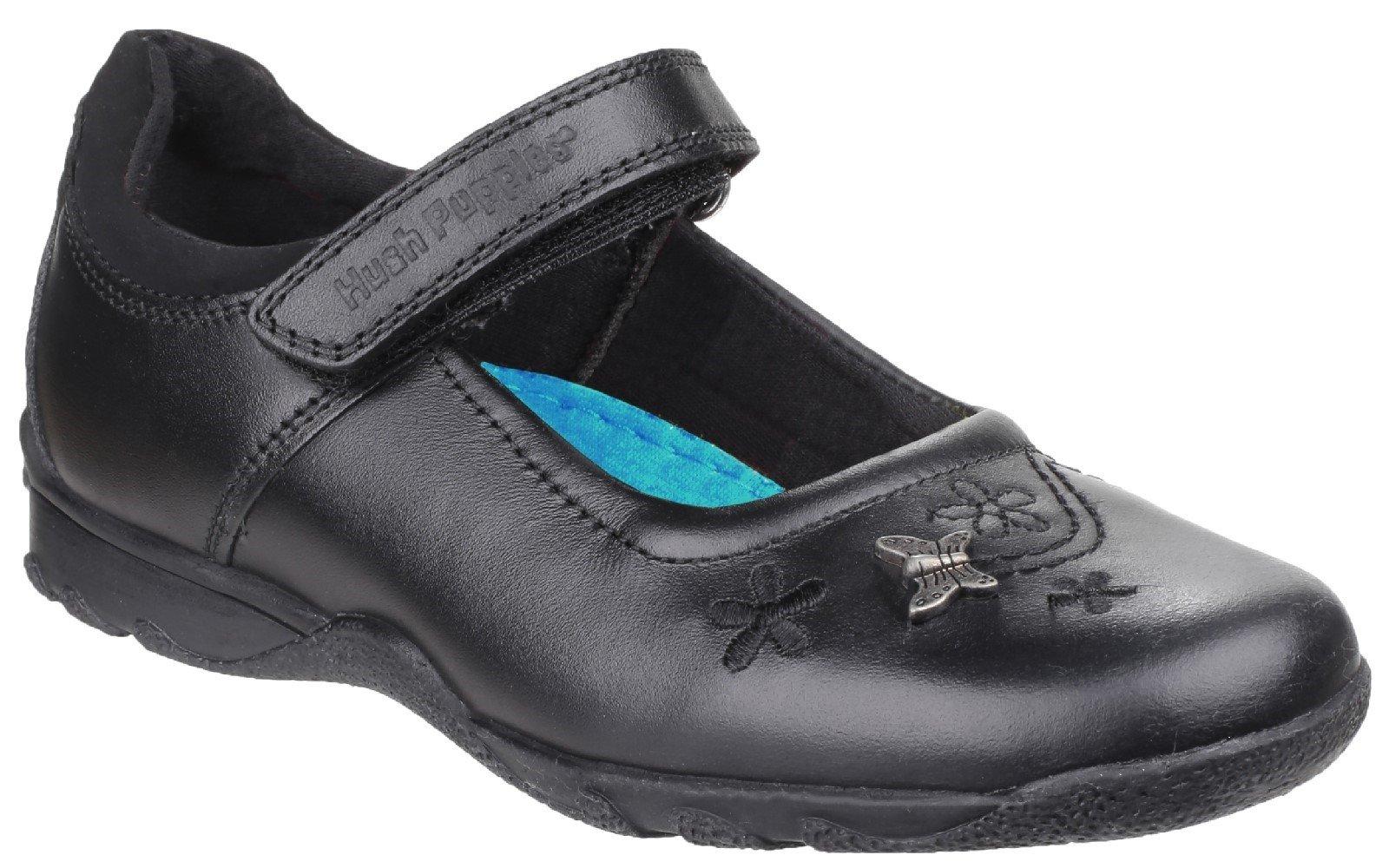 Hush Puppies Kid's Clare Back To School Shoe Black 25322 - Black 10 UK