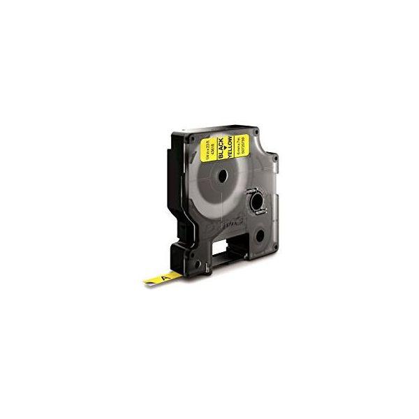 DYMO Standard D1 Teippi 6mm Musta teksti, keltainen pohja