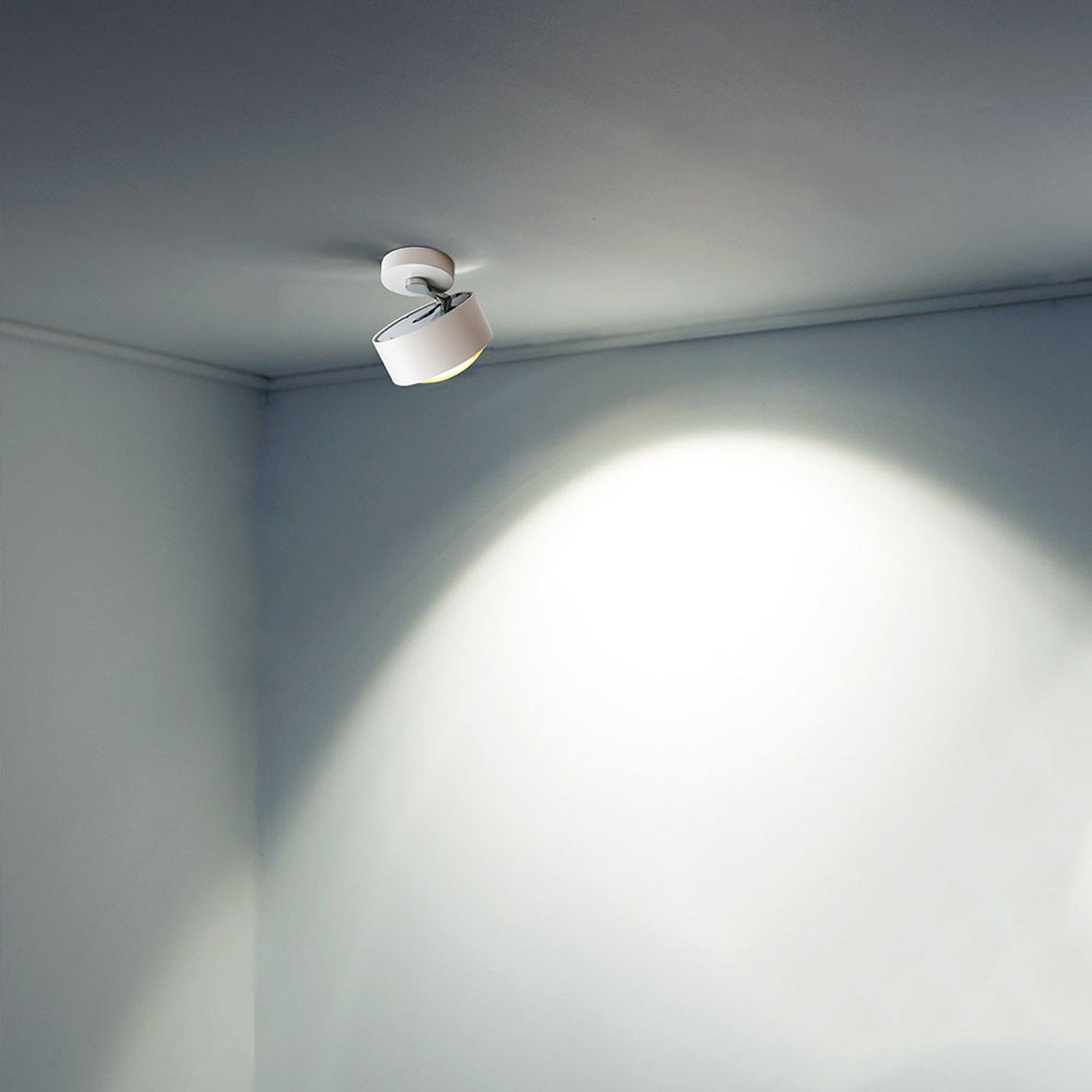 LED-taklampe Puk Maxx Move, hvit krom