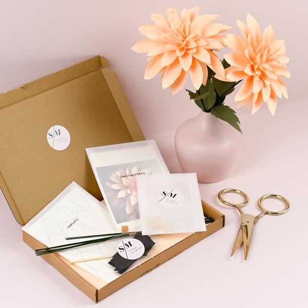 Dahlia Paper Flower Craft Kit