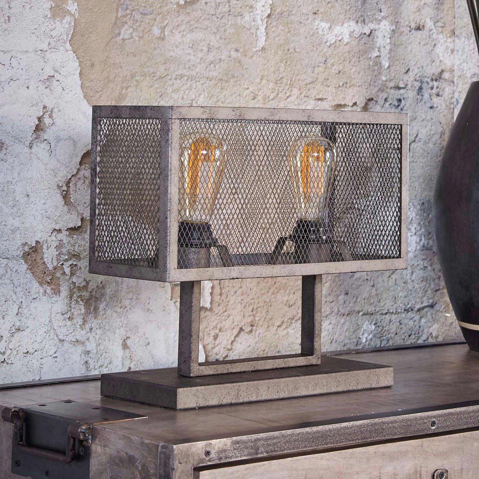 Bordlampe Squaregrid, to lyskilder