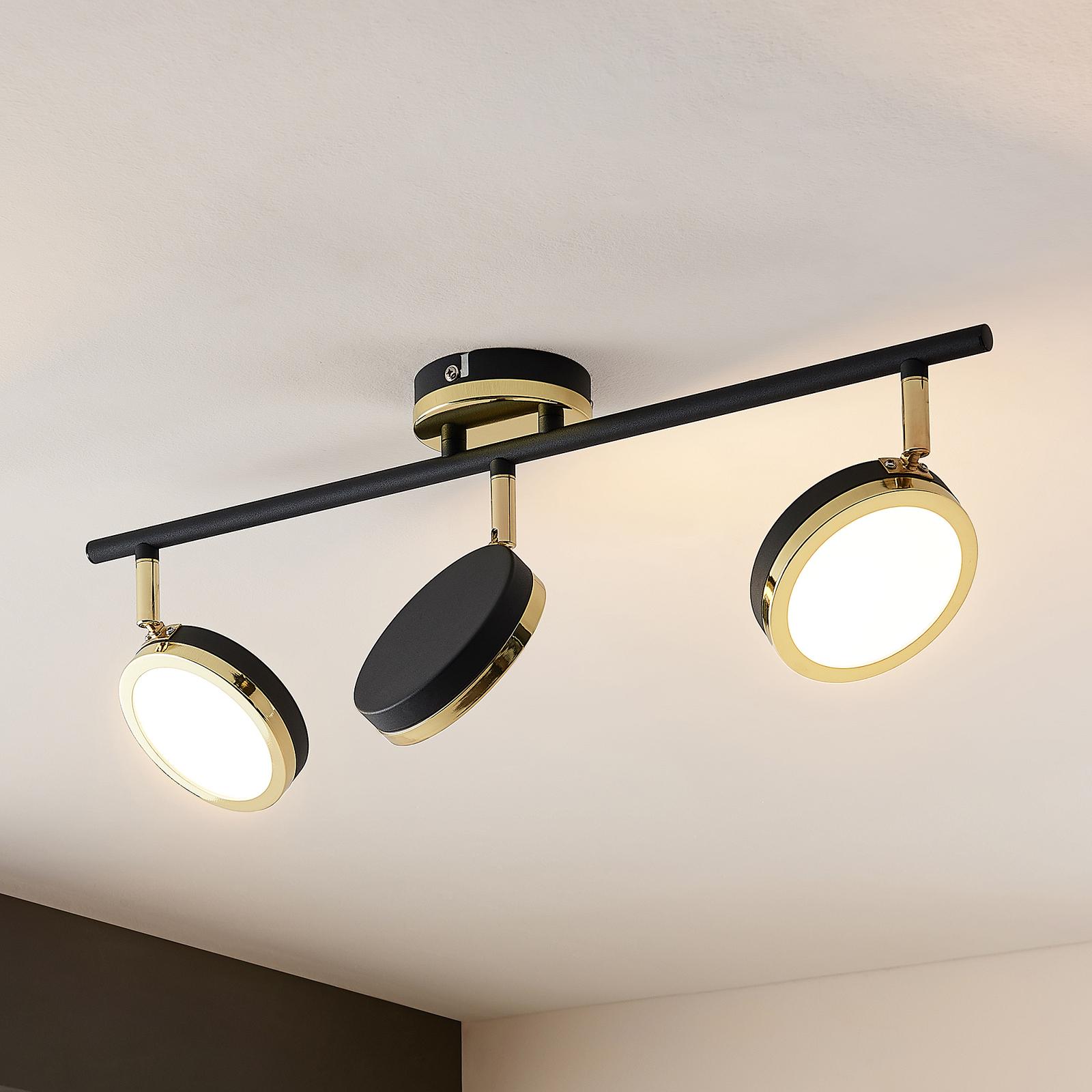 Lindby Alsani -LED-kattokohdevalo 3-lamppuinen