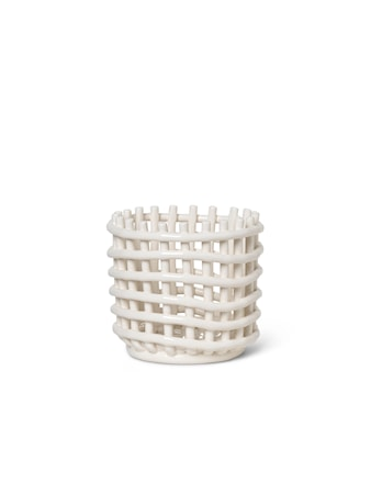 Ceramic Basket - Small - Off-White