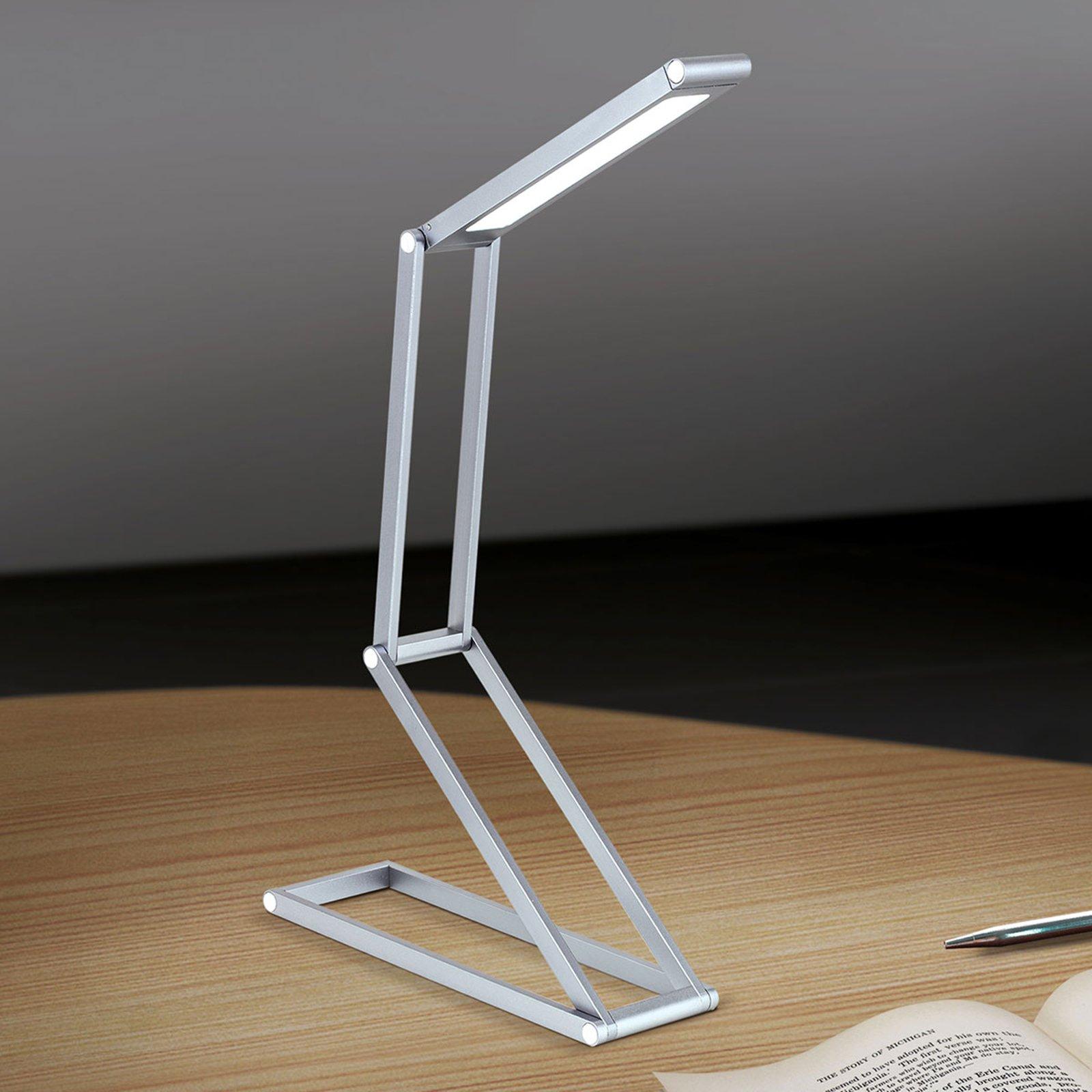 Foldbar LED-bordlampe Falto med batteri antrasitt