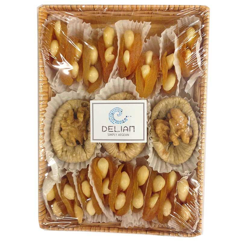 Premium fikon & aprikos - fyllda med mandel / valnötter - 60% rabatt