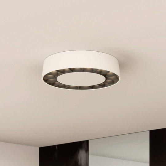 Lucande LED utendørs taklampe Kelissa hvit rund