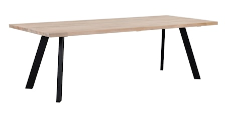 Fred matbord 240 vitpigmenterad ek/svart