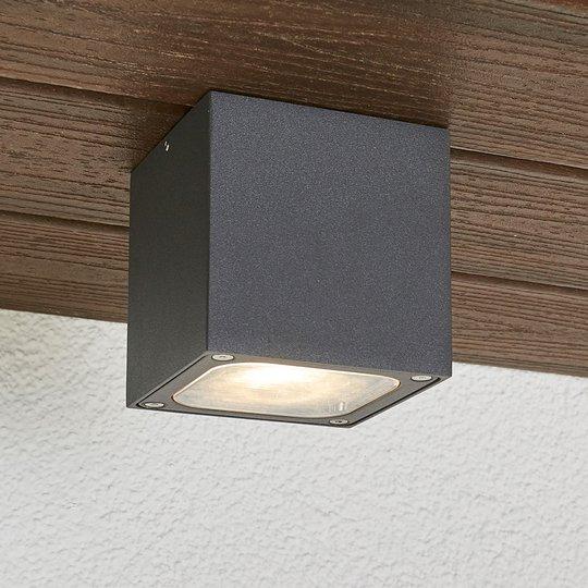 Kuutiomainen LED-ulkokattolamppu Tanea, IP54