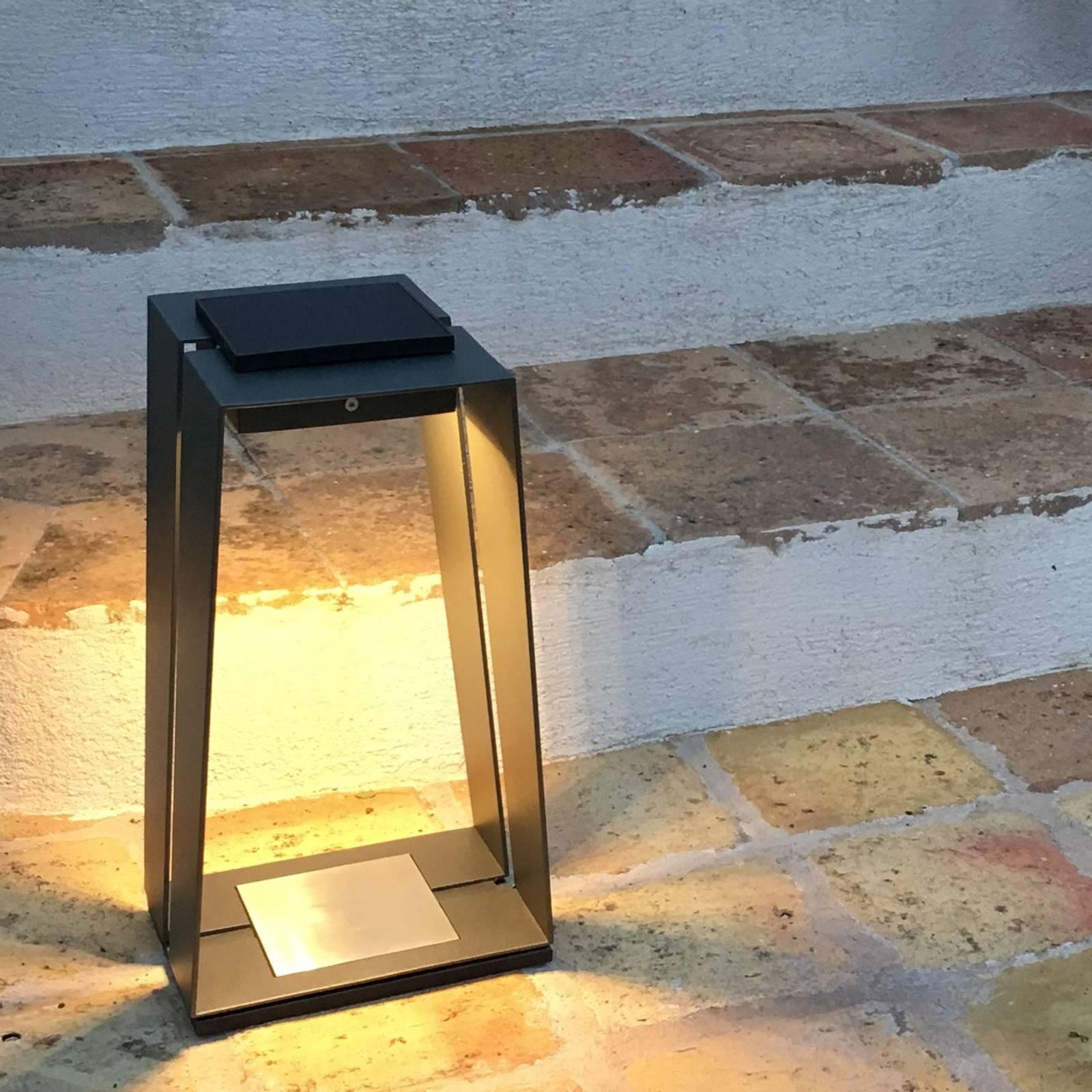 Aurinkokäyttöinen LED-lyhty Skaal alumiinia, 40 cm