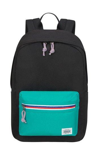 American Tourister Upbeat Zip Ryggsekk 19.5L, Black/Turquoise