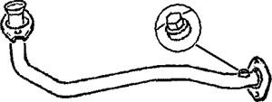 Pakoputki, Edessä, RENAULT CLIO I, CLIO Skåp/halvkombi I, 7700803755, 7700807535, 7700830797