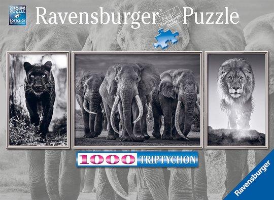 Ravensburger Puslespill Svarthvite Dyr 1000 Brikker