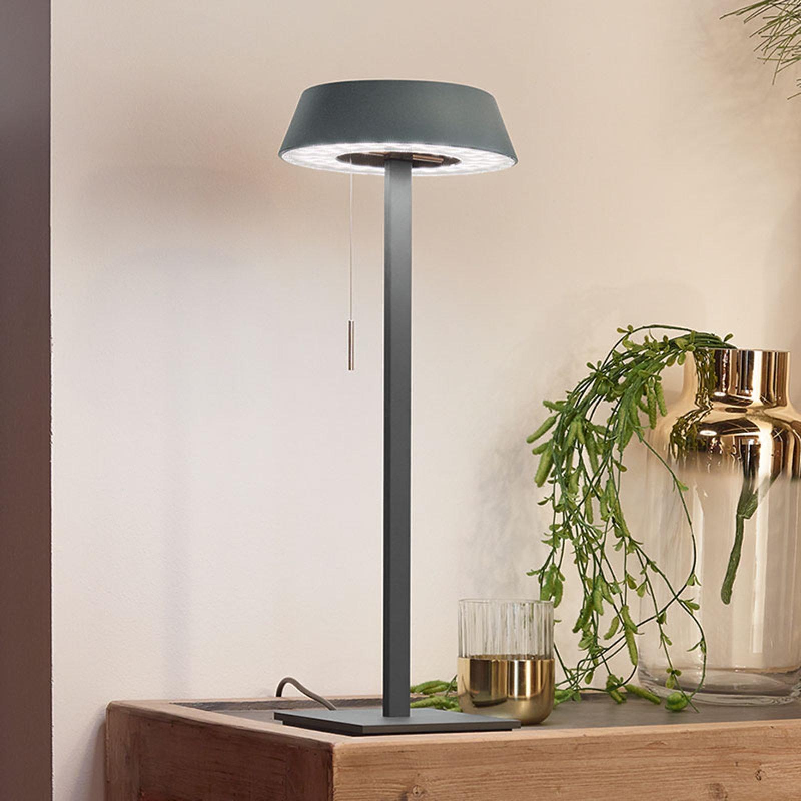 OLIGO Glance LED-bordlampe, grå matt
