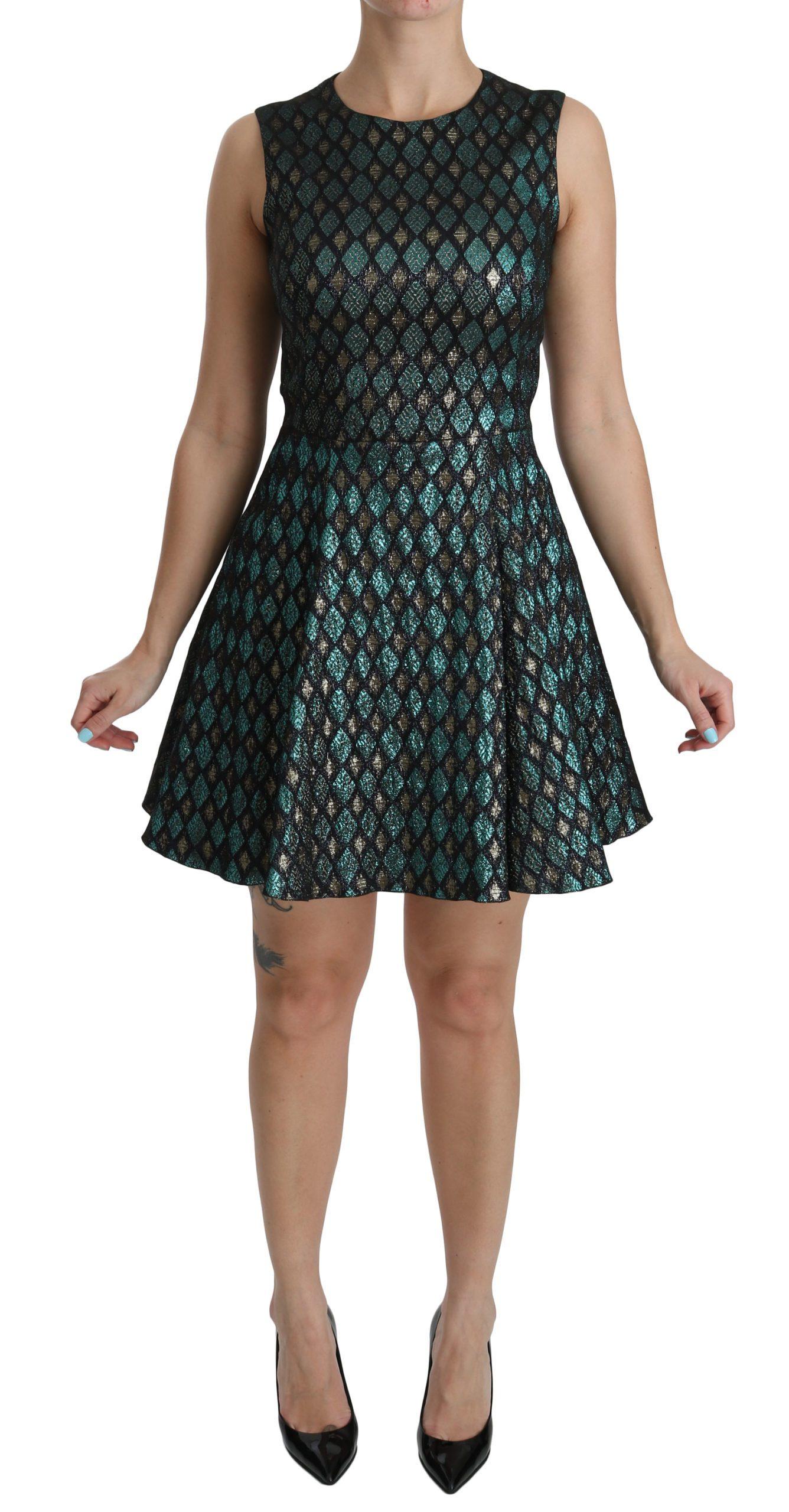 Dolce & Gabbana Women's A-line Shift Gown Dress Blue DR2048 - IT40 S