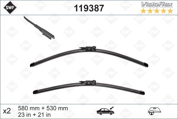 Flatblade set 580 + 530 mm