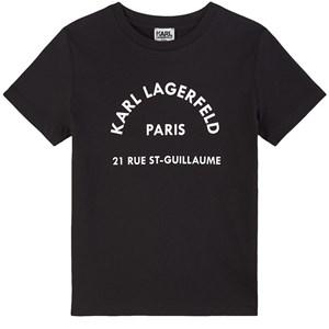 Karl Lagerfeld Kids Mini Me Print T-shirt Svart 4 år