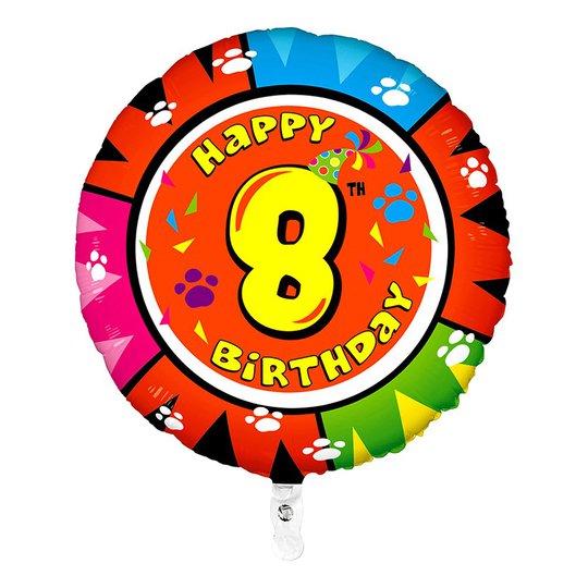 Folieballong Happy Birthday - Siffra 8